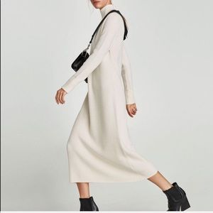 ZARA NWT white sweater long maxi dress long sleeve